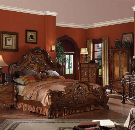 vintage inspired bedroom furniture formal traditional queen king antique style dresden