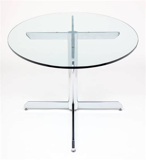 oval glass kitchen table modernist oval glass and chrome knoll style dining