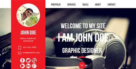 Muse Website Templates Learnhowtoloseweight Net Adobe Muse Portfolio Templates Free