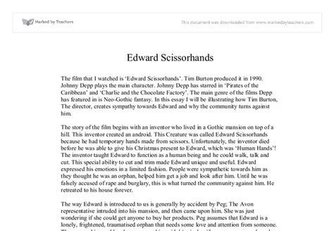 Edward Essays edward scissorhands essay topics