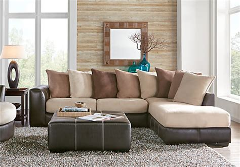 gregory sectional gregory beige 3 pc sectional living room living room sets
