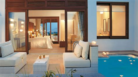 House Plans With 2 Master Suites by Luxury Beach Villas In Crete Amirandes 5 Star Luxury Resort