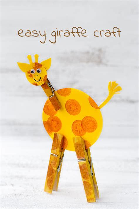 giraffe crafts for easy giraffe craft for