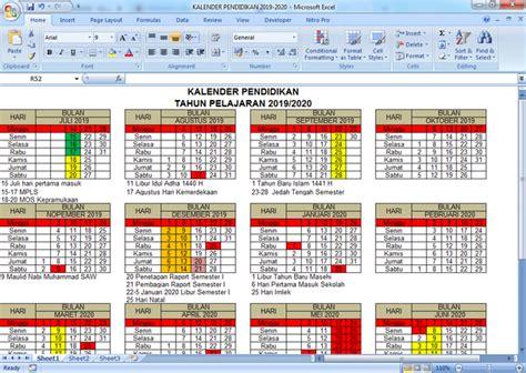 kalender pendidikan  pelajaran   arsip guru