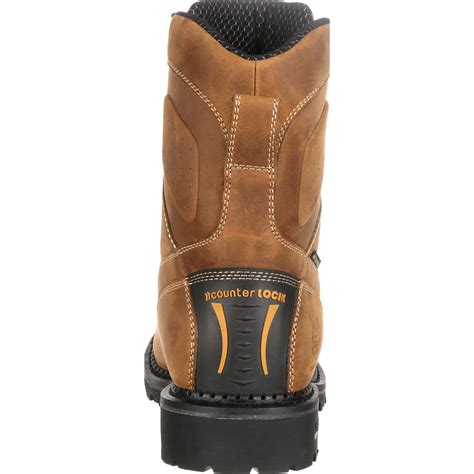 Comfortable Lightweight Work Boots by Composite Toe Waterproof Logger Boot Comfort