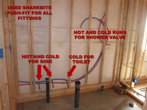 In Bathrooms by How To Finish A Basement Bathroom Pex Plumbing