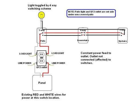 wiring diagram for a light switch and outlet get free