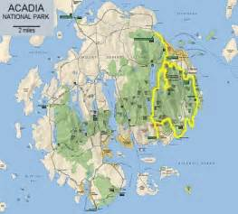 acadia national park map cycling besthike