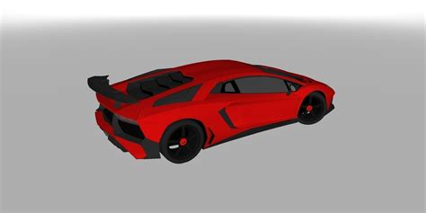 Lamborghini 3d Model Free by 3d Model Lamborghini Aventador Sv 3d Model Vr Ar Low