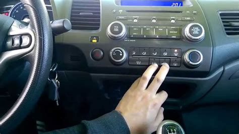 city fan selector how to turn ac on defrost in 2006 2011 honda civic