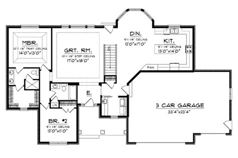 large one story house plan big kitchen with walk in 301 moved permanently