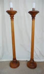 Floor Standing Candlestick by Antiques Atlas Antique Floor Standing Oak Candle Sticks
