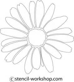 8 best images of printable daisy stencil template daisy