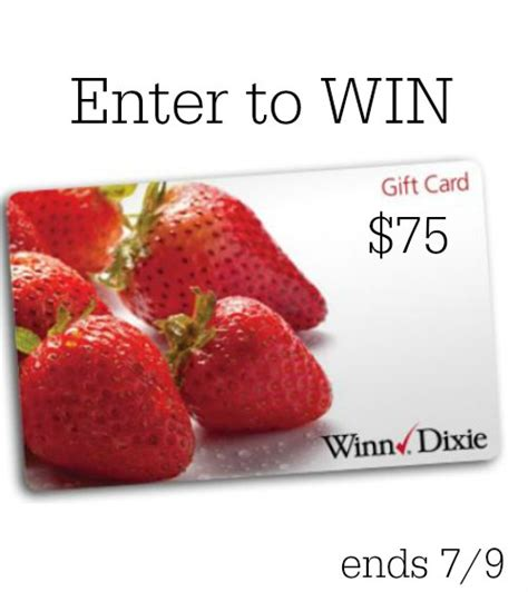 Winn Dixie Gift Cards - win a 75 winn dixie gift card try chek real sugar soda
