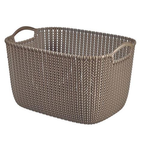 Curver Knit curver knit collection harvest brown 19l plastic storage