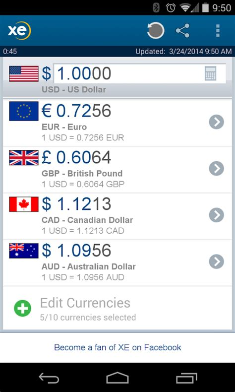currency converter xe app xe currency android apps on google play