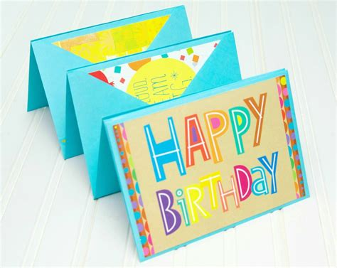 Photos Cards For Birthdays Birthday Card Accordion Gift Idea