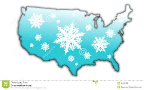 usa snow map winter snow flake map usa royalty free stock photos