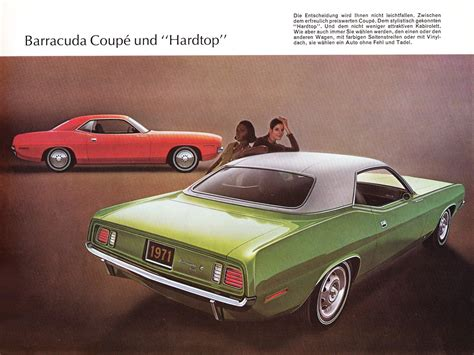 1971 Plymouth Barracuda brochure