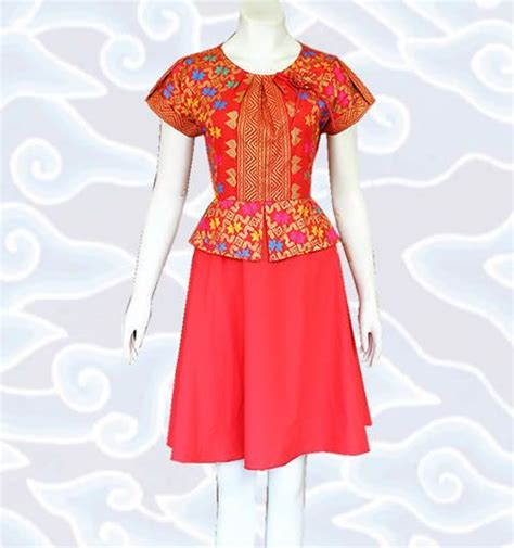 Baju Banduan Warna Merah modern batik dress and dresses on