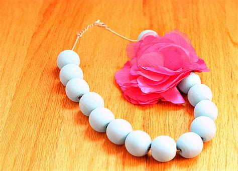 decoart crafts chalky finish beaded necklace