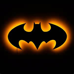 batman light batman l illuminated batman logo wall sign 1998 by