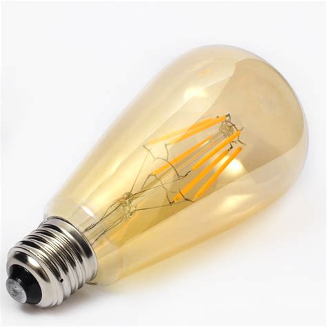 amber led light bulbs retro ycdc e27 edison filament bulbs cob led light amber