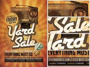 Yard Sale Template by Retro Yard Sale Flyer Template Flyerheroes