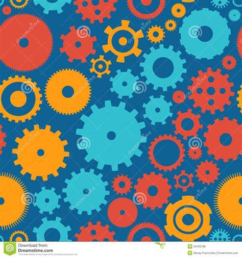 pattern background flat seamless background pattern cogwheel royalty free stock
