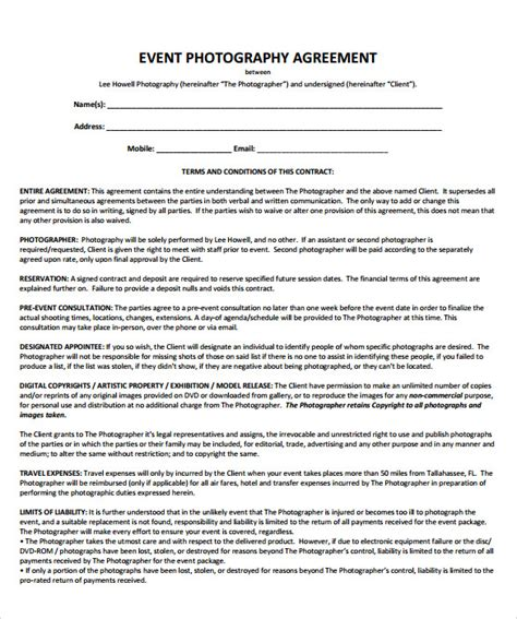 event planner agreement template event contract template 18 documents in pdf