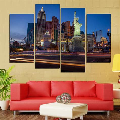 las vegas home decor no frame 4 piece home decor statue of liberty and las