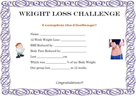 weight loss certificate template winner certificate template 40 word templates for