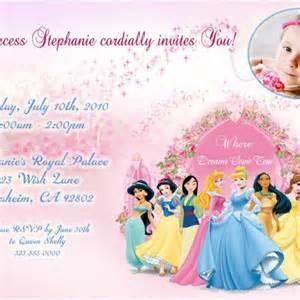disney princess birthday party invitations digital u