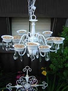 Do It Yourself Chandelier Ideas Bird Feeder From Chandelier Recyclart