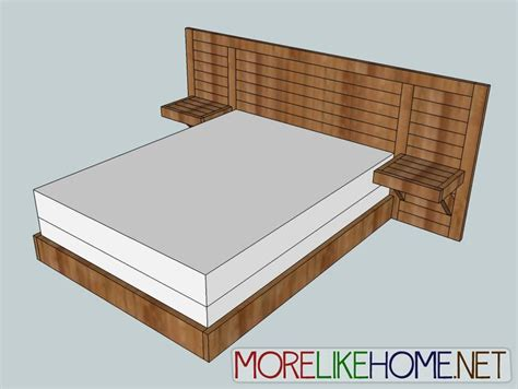 Easy Bed Frame Plans White Build A 2x4 Simple Modern Bed Free And Easy Diy Project And Furniture Plans