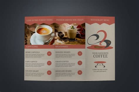 desain brosur menu 22 brosur kafe kopi pilihan desain bagus ayuprint co id