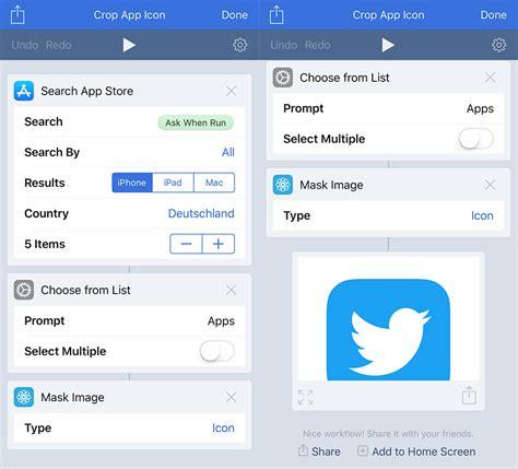 workflow iphone app apples workflow app mit neuer bildmasken funktion iphone