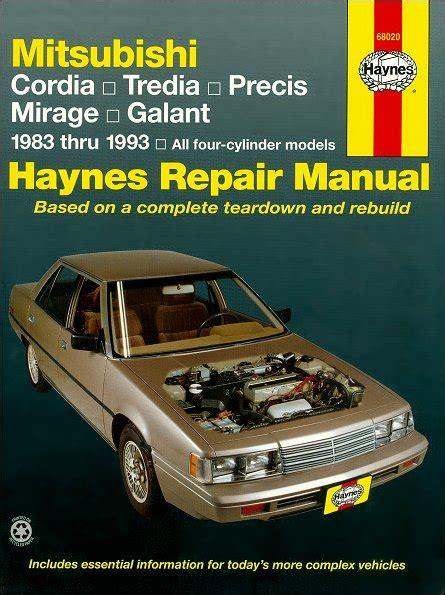 car manuals free online 1985 mitsubishi cordia interior lighting cordia tredia precis mirage galant repair manual 1983 1993