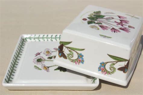 Botanic Garden Portmeirion Covered Butter Dish Plate Portmeirion Botanic Garden Butter Dish