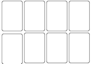 Blank Card Game Template By Persha Darling Teachers Pay Teachers Deck Of Cards Template