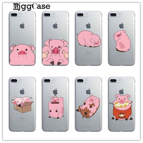 Squishy Soft Samsung J2 Prime gravity falls waddles pink pig for iphone 7 6 6s plus