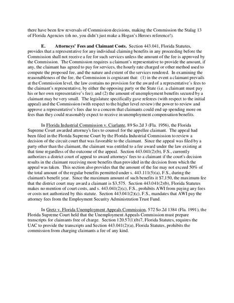section 443 florida statutes forst pursuing an unemployment benefits claim