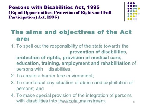 person with disability act 1995