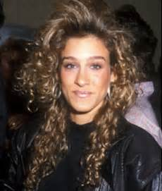 when was big perm hair popular 80s curly hair 80s hair pinterest sarah jessica