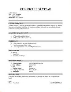 6 formal cv format sle financial statement form
