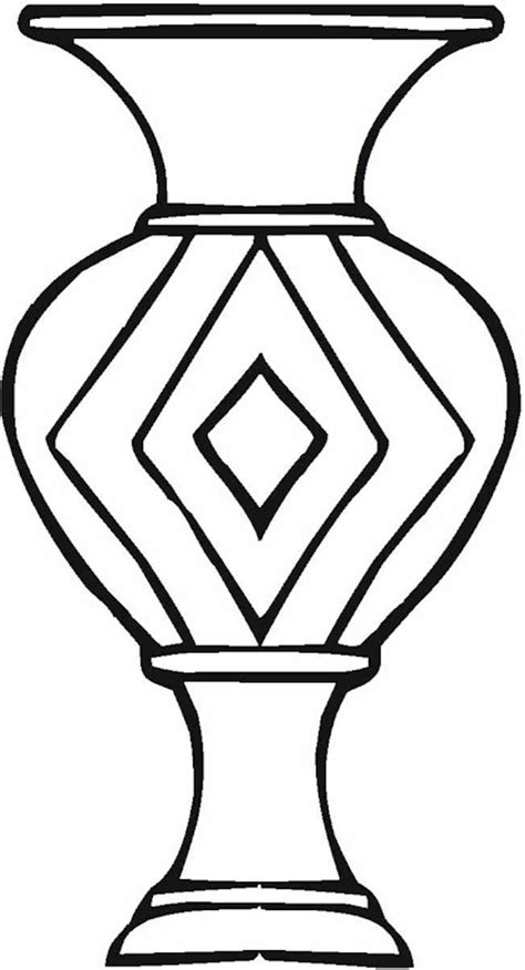 Vase Coloring Page by Vase Pottery Coloring Page