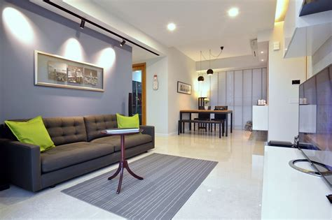 Minimalist Apartment In Singapore With Extensive City Interior Designs For Apartments