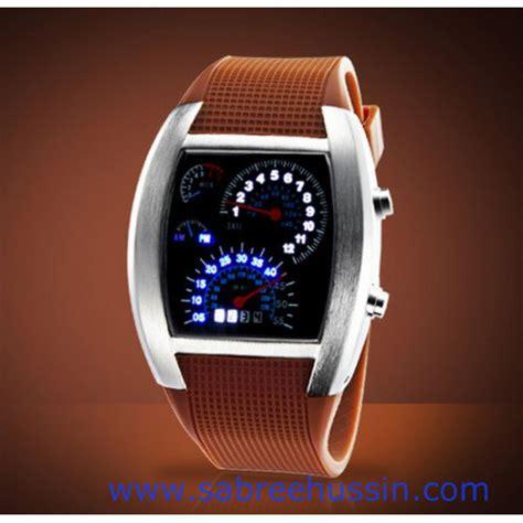Jual Jam Tangan Led Wanita Bulova Tvg Speedometer Putih Original jam tangan flash rpm speedometer