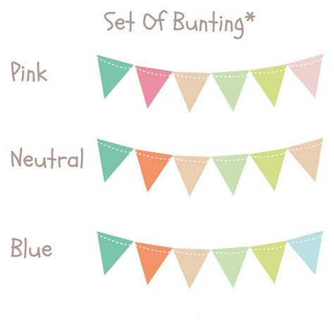 bunting wall stickers bunting wall stickers by parkins interiors