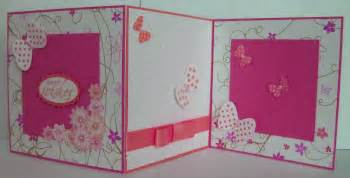how to make handmade greeting card pink and white trendy mods